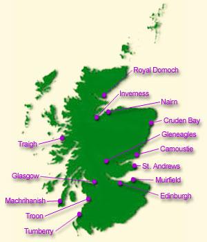 Scotland Home of Golf on scottish national parks map, scotland map, scottish airports map,